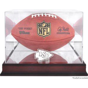 Kansas City Chiefs Fanatics Authentic Mahogany Football Logo Display Case with Mirror Back