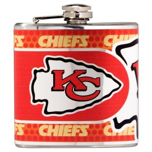 Kansas City Chiefs Silver 6oz. Stainless Steel Hip Flask