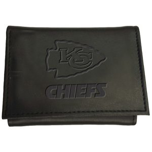 Men's Kansas City Chiefs Black Hybrid Tri-Fold Wallet