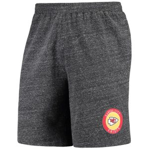 Men's Kansas City Chiefs Concepts Sport Charcoal Pitch Knit Shorts