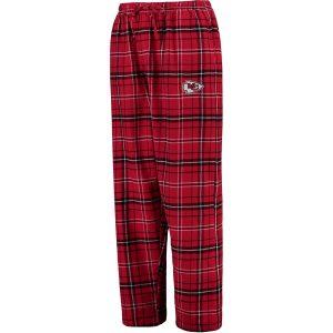 Men's Kansas City Chiefs Concepts Sport Red Ultimate Plaid Flannel Pajama Pants