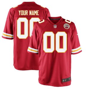 Men's Kansas City Chiefs Nike Red Custom Game Jersey