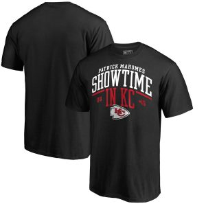 Men's Kansas City Chiefs Patrick Mahomes Black Hometown Collection Showtime in KC T-Shirt