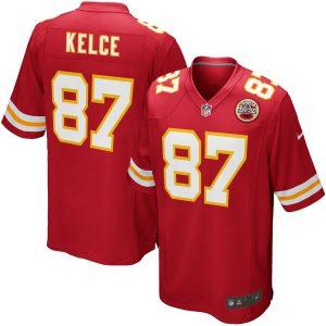 Men's Kansas City Chiefs Travis Kelce Nike Red Team Game Jersey