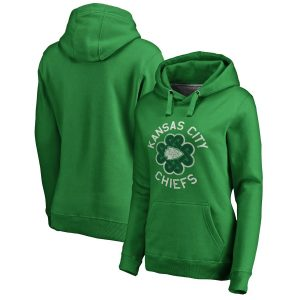 Women's Kansas City Chiefs St. Patrick's Day Luck Tradition Pullover Hoodie
