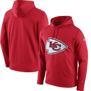 Men's Kansas City Chiefs Nike Red Circuit Logo Essential Performance Pullover Hoodie