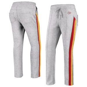 Women's Kansas City Chiefs WEAR By Erin Andrews Gray Track Pants