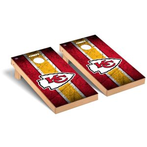 Kansas City Chiefs 2′ x 4′ Vintage Regulation Cornhole Board Tailgate Toss Set
