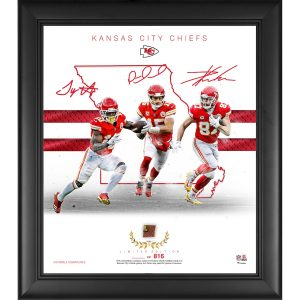 Kansas City Chiefs Framed 15″ x 17″ Franchise Foundations Collage with a Piece of Game Used Football