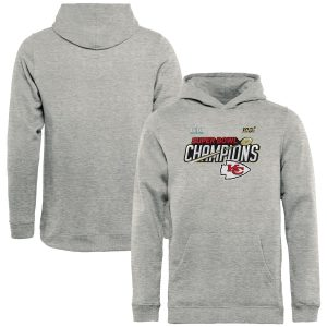 Kansas City Chiefs Youth Super Bowl LIV Champions Trophy Collection Locker Room Pullover Hoodie