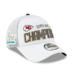Kansas City Chiefs New Era Super Bowl LIV Champions Locker Room 9FORTY Adjustable Hat