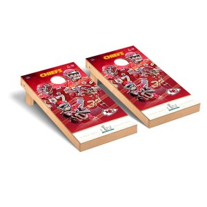 Kansas City Chiefs Super Bowl LIV Champions 2′ x 4′ Cornhole Board Tailgate Toss Set