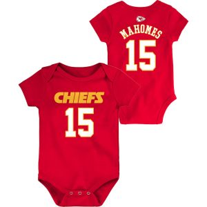 Patrick Mahomes Kansas City Chiefs Infant Mainliner Name and Number Bodysuit