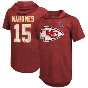 Patrick Mahomes Kansas City Chiefs Super Bowl LIV Champions Name & Number Hoodie T-Shirt