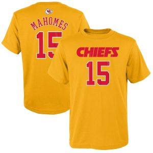 Patrick Mahomes Kansas City Chiefs Youth Fashion Name & Number T-Shirt
