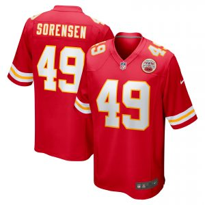 Men's Kansas City Chiefs Daniel Sorensen Nike Red Game Jersey